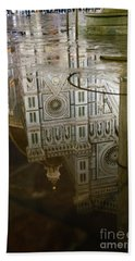 Reflections El Duomo The Florence Italy Cathedral Beach Sheet