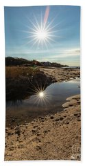 Reflections Of Autumn At The Beach Beach Towel