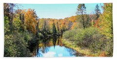 Reflections Of Fall In Wisconsin Beach Towel