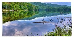 Beach Towel featuring the photograph Reflections On Sis Lake by David Patterson