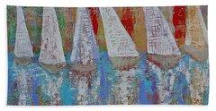 Regatta Original Painting Beach Towel