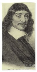 Rene Descartes, French Philosopher, Mathematician And Writer Beach Towel