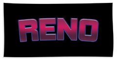 Reno #reno Beach Towel