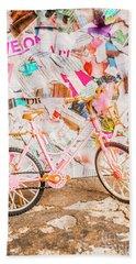 Retro City Cycle Beach Towel