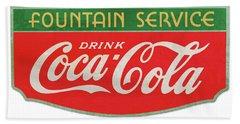 Retro Coke Sign Beach Towel