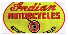 Retro Indian Motorcycles Beach Towel