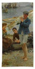 Return From Fishing, 1907 Beach Towel