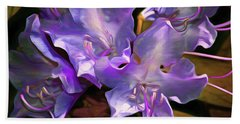 Beach Towel featuring the mixed media Rhododendron Glory 17 by Lynda Lehmann