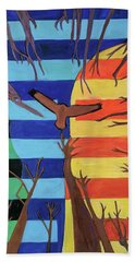Beach Towel featuring the painting Riding The Wind by Denise Weaver Ross