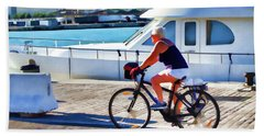 Riding Through The Dock Beach Towel