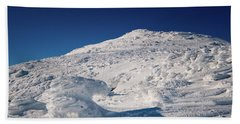 Beach Towel featuring the photograph Rime And Snow, And Mountain Trolls. by Jeff Sinon