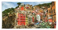 Riomaggiore Cinque Terre Beach Towel
