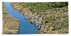 River On The Rocks. Color Version Beach Towel