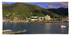 Beach Towel featuring the photograph Road Harbour by Tony Murtagh