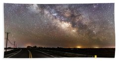 Road To Milky Way Beach Towel