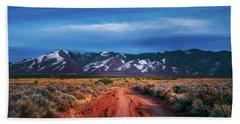 Beach Towel featuring the photograph Road To Sangre De Cristo Mountain Range by Robert FERD Frank