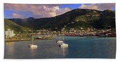 Beach Towel featuring the photograph Road Town  by Tony Murtagh