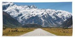 Road Trip In The Southern Alps Beach Towel