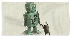 Robot Vs Alien Beach Towel