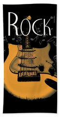 Rock Guitar Music Notes Beach Sheet