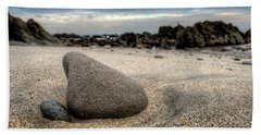 Beach Towel featuring the photograph Rock On Beach by John Rodrigues