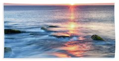 Rockport Pastel Sunset Ma. Beach Towel