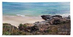 Rocks Sand And Water  Beach Towel