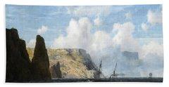 Rocky Cliffs, 1891 Beach Towel