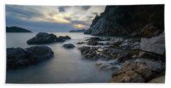 Beach Towel featuring the photograph Rocky Coast Near Dubrovnik by Milan Ljubisavljevic