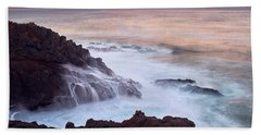 Beach Towel featuring the photograph Rocky Creek by Whitney Goodey