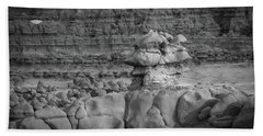 Rocky Desert Formation Beach Towel