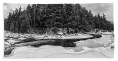 Rocky Gorge N H, River Bend 1 Beach Towel