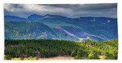 Rocky Mountains - Green Beach Towel