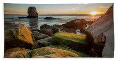 Rocky Pismo Sunset Beach Towel