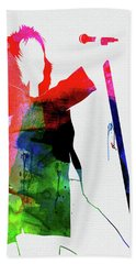 Rod Stewart Watercolor Beach Towel