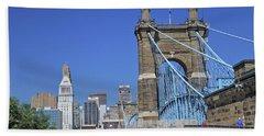 Roebling Bridge Beach Towel
