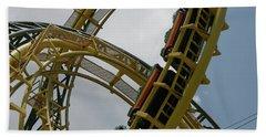 Roller Coaster Loops Beach Towel