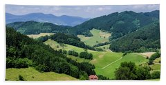 Rolling Hills Of The Black Forest Beach Towel