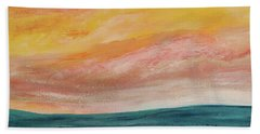 Beach Towel featuring the painting Rolling Ocean by Valerie Anne Kelly