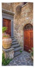 Romantic Courtyard Of Tuscany Beach Towel