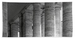 Rome - The Colonnade At St. Peter's Basilica Beach Towel