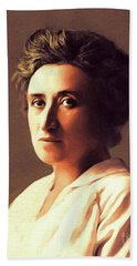 Rosa Luxemburg, Philosopher And Activist Beach Towel