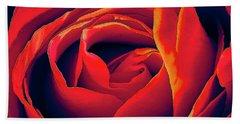 Rose Ablaze Beach Sheet
