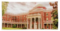 Rotunda Building Longwood University In Farmville Virginia Beach Towel