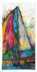 Rough Sailing Beach Towel