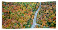 Beach Towel featuring the photograph Route 42 Aerial by Adam Romanowicz