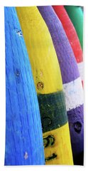Row Of Buoy Beach Towel