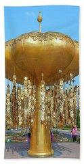 Beach Towel featuring the photograph Royal Park Rajapruek Golden Sculpture Dthcm2579 by Gerry Gantt