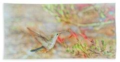 Rufous Hummingbird In The Arizona Garden Beach Towel
