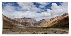 Beach Towel featuring the photograph Rugged Himalayan Mountains by Whitney Goodey